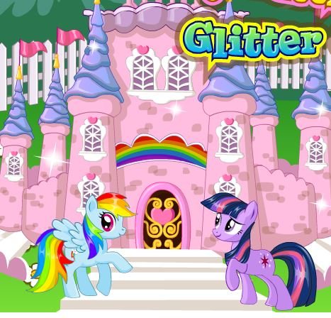 My Little Pony Glitter Castle Game