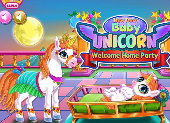 Newborn Unicorn Welcome Party Game