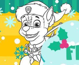 Nick Jr Festive Coloring Game