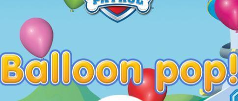 Paw Patrol Balloon Pop Game