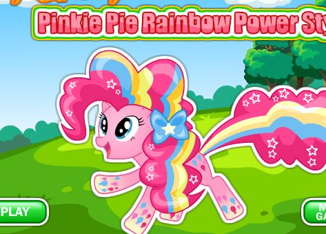 Pinkie Pie Rainbow Power Style Game