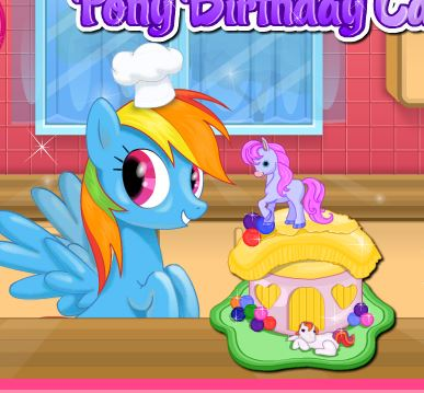 Pony Birthday Cake 2 Game