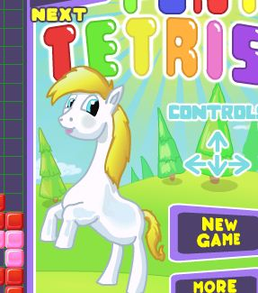 Pony Tetris Game