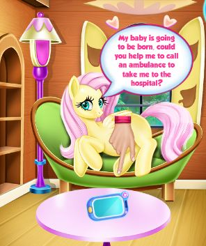 Pregnant Fluttershy Check Up Game