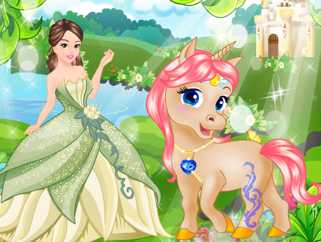 Princess And Her Magic Unicorn Game