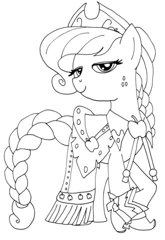 Princess Applejack from My Little Pony Game