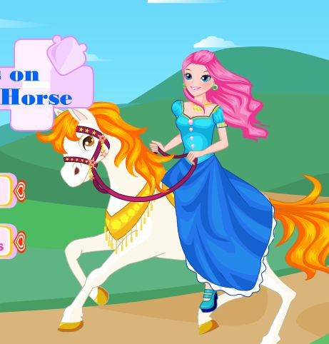 Princess On White Horse Game