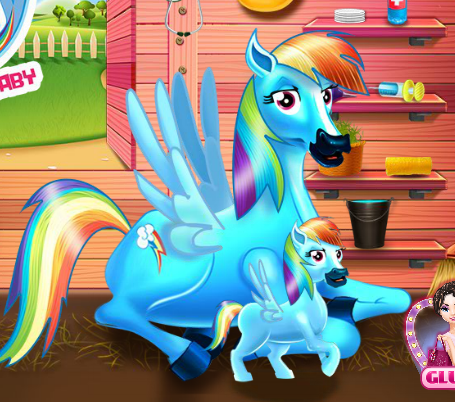 Rainbow Dash And The Newborn Baby Game