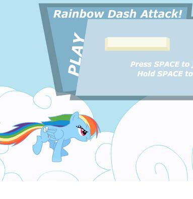 Rainbow Dash Attack Cloud Game