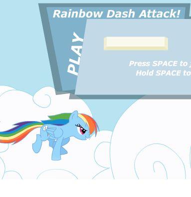 Rainbow Dash Attack Cloud Game