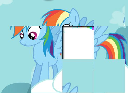 Rainbow Dash Puzzles Game