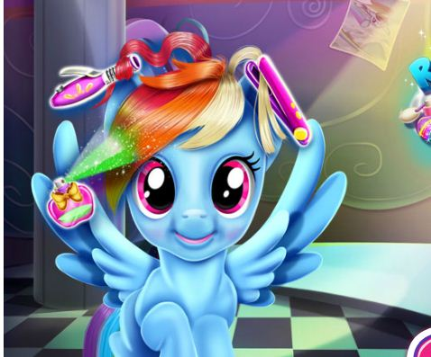 Rainbow Dash Real Haircuts 2 Game