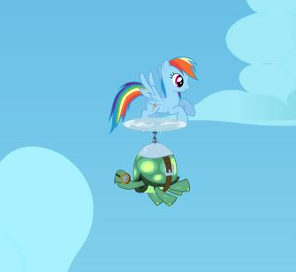 Rainbow Dash's Rainboom Game