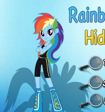 Rainbow Equestria Hidden Stars Game