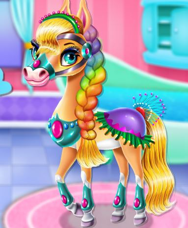 Rainbow Pony Beauty Salon Game