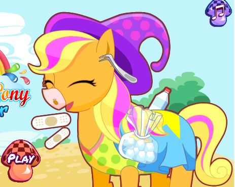 Rainbow Pony Feet Doctor Game