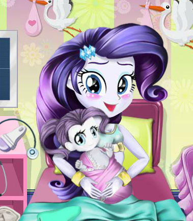 Rarity's Baby Birth Game
