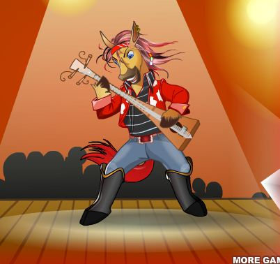 Rockstar Horse Dress Up Game