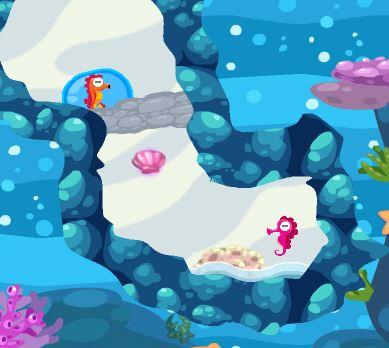 Sea Horse Bubble Escape Game