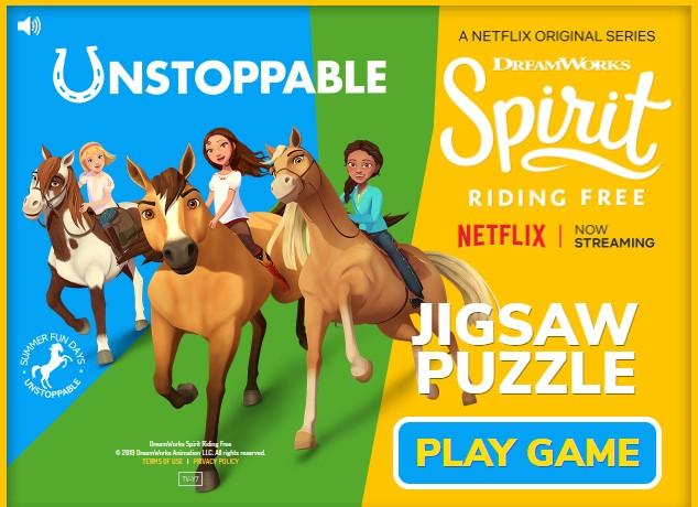 Spirit Riding Free Jigsaw Puzzle Game
