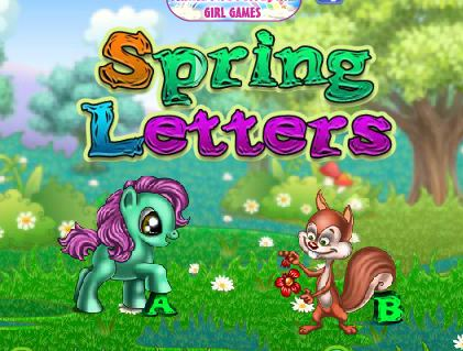 Spring Letters Game