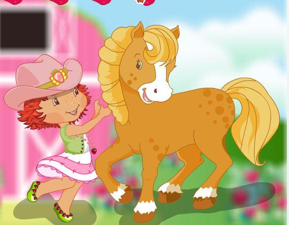 Strawberrys Pony Caring Game