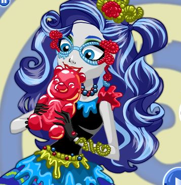 Sweet Screams Ghoulia Yelps Dress Up Game