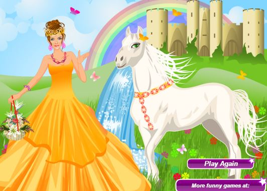 The Princess And Her Magic Horse Game