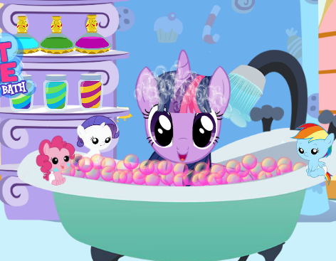 Twilight Sparkle Bubble Bath Game