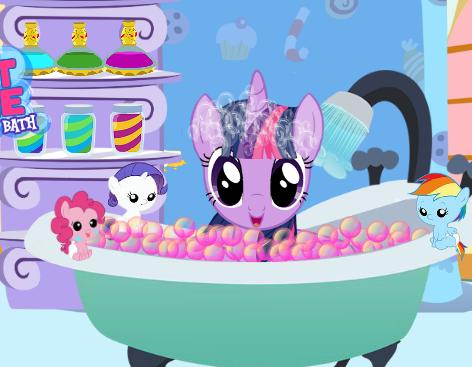 Twilight Sparkle Bubble Bath Game