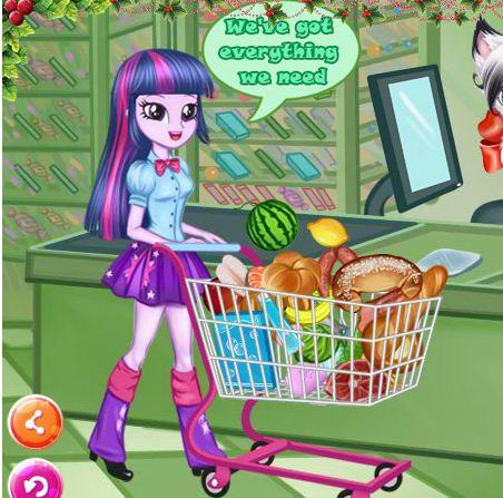 Twilight Sparkle Christmas Shopping Game