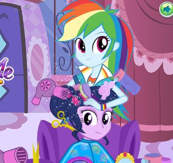 Twilight Sparkle Summer Haircuts Game