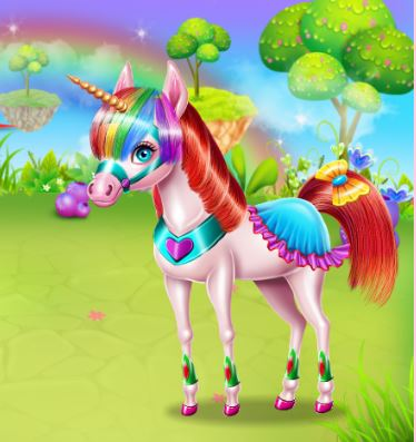 Unicorn Beauty Salon Game