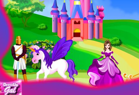 Unicorn Castle Decoration Game