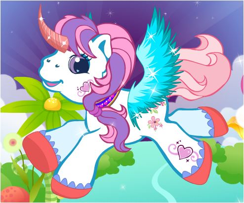 Unicorn Cuties Dressup Game