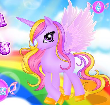 Unicorn Princess Hair Salon Game