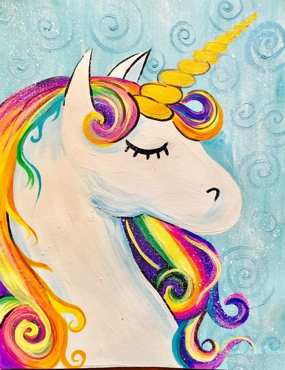 How To Draw And How To Painting The Unicorn Head