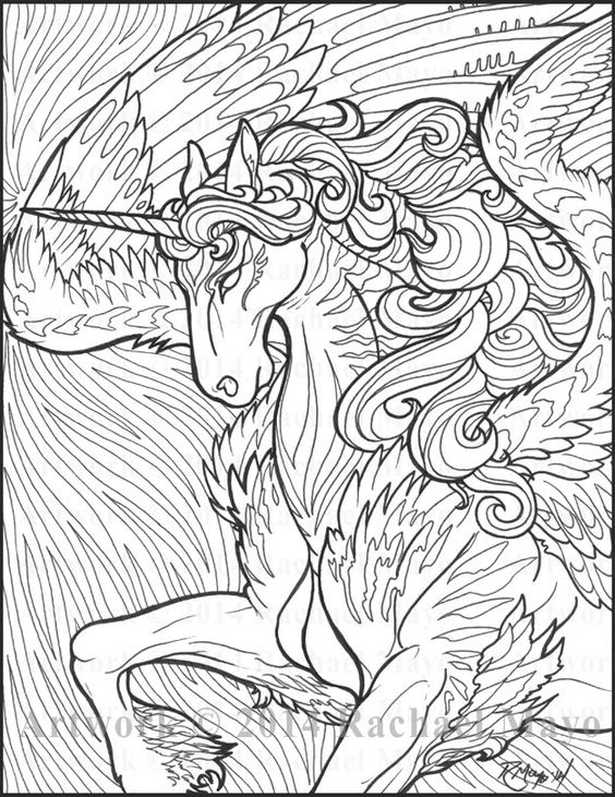 The Awesome Unicorn Coloring Pages