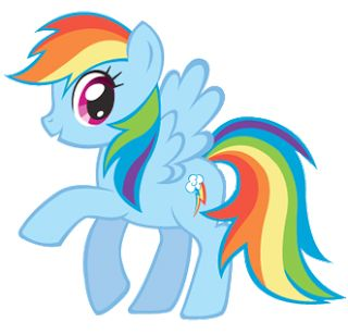 My Little Pony Rainbow Dask With Mood