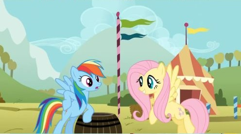 My Little Pony Rainbow Dash Apple Jack And Flutteshy
