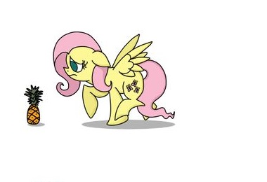 My Little Pony Fluttershy And The Pineapple
