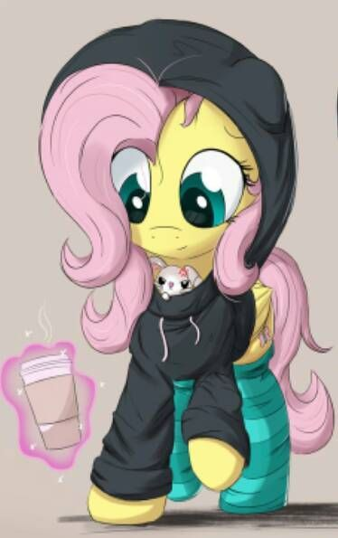 My Little Pony Fluttershy With Winter Outfits