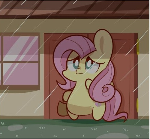 My Little Pony Fluttershy In Raining