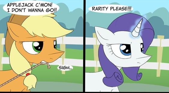 My Little Pony Apple Jack And Rarity