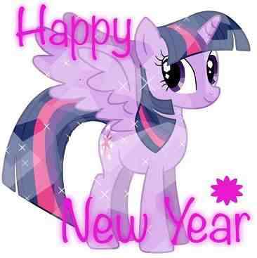 Twilight Sparkle Happy New Year 2019