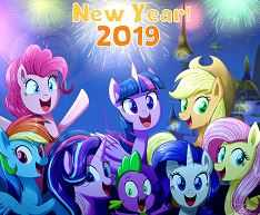Happny New Year 2019 My Little Pony Picture
