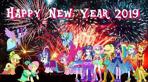 Ponies Happy New Year 2019 Picture