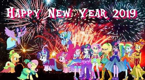 Ponies Happy New Year 2019