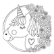 Unicorn Coloring Pages