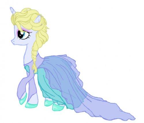 Pictures Frozen Pony Elsa Picture